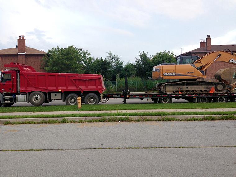 Excavator & Dump Truck-thumb